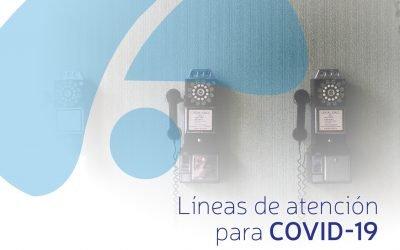 Líneas de atención para COVID-19